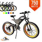 750Watts Fat Tire Electric Mountain E Bike Bicycle 48v DUAL SUSPENSION SAMSUNG