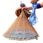 2.4M x 1.2M Woven nylon Tire line Fishing Fish Gill Net with Frisbee for child