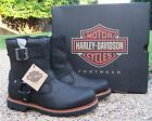 NEW Men's Harley Davidson Sandfield Black Leather Motorcycle Boots D93425
