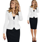 Trend Ladies Women Casual Long Sleeve Slim Work Business Suit Coat Jacket Blazer