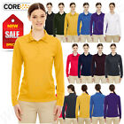 Core 365 Womens UV Protect Performance Long Sleeve Piqué S-XL Polo Shirt R-78192
