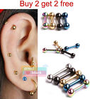 G2B 316L Surgical Steel Multicolor Ear Stud Fashion Body Piercing Jewelry