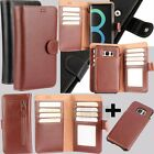 Practical Flip PU Leather Wallet Card Slot Case Cover For Samsung Galaxy& iPhone