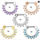 1pcs New Septum Clicker Nose Piercing Ring Jewerly With Zircon Gem