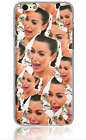 New Kim Kardashian Funny Soft TPU 3D Print Case Cover For iPhone 5 5S 6 6S 7