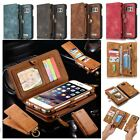 Genuine Leather Flip Wallet Phone Case Cover for iPhone 7 Plus 6S Samsung Galaxy