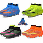 Adults Mens Outdoor Soccer Cleats High Top Football Boots Durable Athletic Shoes