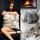 Home Decor Rabbit Fur Throw Pillow Case Popular Come Sofa Waist Cushion Cover