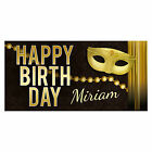 Masquerade Birthday Banner Personalized Party Backdrop Decoration