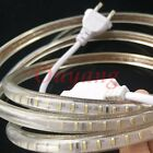 SMD 3014 AC 220V led strip Ribbon flexible light 1M 120leds EU Plug Waterproof