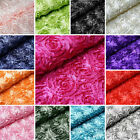 """54"""" wide x 12 feet Raised Roses FABRIC BOLT Wedding Party Decorations WHOLESALE"""