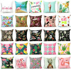 18'' Cotton Linen Polyester Pillow Case Cover Sofa Car Cushion Cover Home Decor