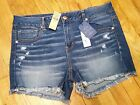 American Eagle Midi Shorts Size Low Rise Super Stretch Demin X Lycra NWT New