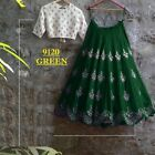 NEW INDIAN DESIGNER EMBROIDERED BRIDAL LEHENGA PARTY WEAR BOLLYWOOD GHAGRA CHOLI
