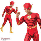 FANCY DRESS COSTUME ~ BOYS DC COMIC BOOK DELUXE THE FLASH AGES 3-10 YEARS