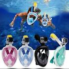 180° Swimming Diving Full Face Snorkel Scuba Anti-Fog Mask Surface for GoPro