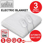 Electric Blanket Fully Fitted Polyester Underlay Washable Heated Warm Bed Sizes