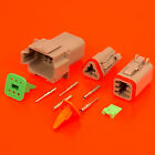 Genuine Deutsch DT Series Grey Connector Kits 2 3 4 6 8 12 Pin C/W Pins & Wedge