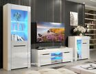 Modern Gloss &Matt Living Room Furniture TV Unit Display Cabinet LED Lights CORO