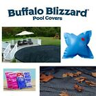 Above Ground Swimming Pool Round Winter Cover w/ Leaf Net, Air Pillow & Kit