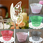 12X Vine Filigree Cupcake Cake Wrappers Wraps Cases Wedding Birthday Party