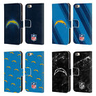 NFL 2017/18 LOS ANGELES CHARGERS LEATHER BOOK CASE FOR APPLE iPHONE PHONES