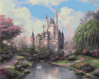 "Flowers Deer Castle Frame 16x20"" Paint By Number DIY Acrylic Painting on Canvas"