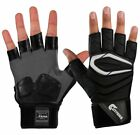 Cutters CTack The Force .5 2.0 1/2 Finger Football Lineman Padded Gloves - Black