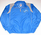 Detroit Lions 1/4 Zip Jacket, Men's Size Medium or Large, New w/Tag