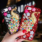 Luxury Bling Giltter Diamond Crystal Peacock Case Cover for iPhone 6/6S/7 Plus