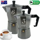 NEW 3 or 6 CUP ESPRESSO Coffee Charcoal Percolator Perculator Moka Stove Top