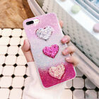 Love Heart Glitter Powder Luxury Sequins Soft TPU Phone Case For iPhone 6 7 Plus