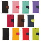 11 Colors New high quality Fancy Diary Wallet leather case for HTC Various