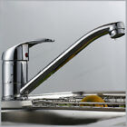 Chrome Single Lever Kitchen Sink Mono Basin Mixer Tap Faucet Swivel Spout Modern