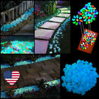 100pcs Glow In The Dark Stones Pebbles Rock Fish Tank Aquarium Gardening US