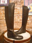 Marc Fisher Monica Brown Leather & Stretch Over the Knee Boots NEW