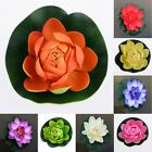 Artificial Silk Effect Lotus Flower Lilly Pad Pretty Floral Pond Decoration