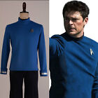 Star Trek Beyond Bones Cosplay Costume Science Officer Blue Shirt Outfit Uniform