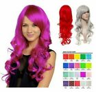 "LONG CURLY WAVY 22""BRIGHT NEON COLOURS PARTY HALLOWEEN FULL HEAD WIG 9317"