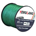 100M-1000M Spectra PE Braided Fishing Line Super Strong Agepoch Dyneema Green