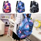 NEW Unisex Galaxy Space Backpack Travel Rucksack Canvas Shoulder School Bags US