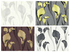Crown Cala Lily - Feature Flower Wallpaper - Textured Glitter - Modern Chic