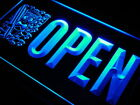 j840 b OPEN Tiki Bar Surf Beer Pub Neon Light Sign