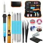 Pro 60W Electric Adjustable Temperature Welding Solder Soldering Iron Tool Kits
