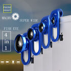 Universal 4in1 Camera Clip Lens Kit Fisheye+2x Wide Angle+Macro For Mobile Phone