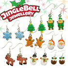 Gift Jewellery Christmas Novelty Stocking Fillers Party Festive Drop Earrings