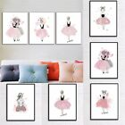 Cute Girls Art Canvas Prints Printing Poster Wall Home Living Room Decor DIY