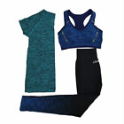 New 3 Pcs Women Yoga Sport Set Gym Running Quick Dry Suit Sports For Women