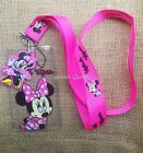 lot Cartoon Minnie key chain Cute Lanyard ID Badge Holder Key Neck Strap