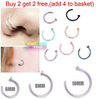 G2B 316L Surgical Steel Thin Open Nose Ring Hoop Stud body piercing Jewelry gift